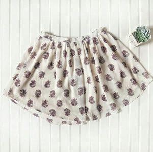 H&M Summer Beige Paisley Prints Mini Skirt